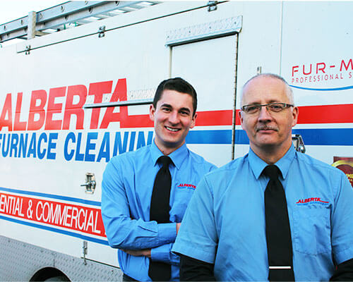 furnace cleaning technician